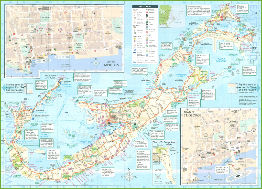 Large Detailed Tourist Map Of Bermuda pertaining to Printable Map Of Bermuda