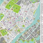 Large Detailed Tourist Map Of Copenhagen City Center. Copenhagen Throughout Printable Map Of Copenhagen