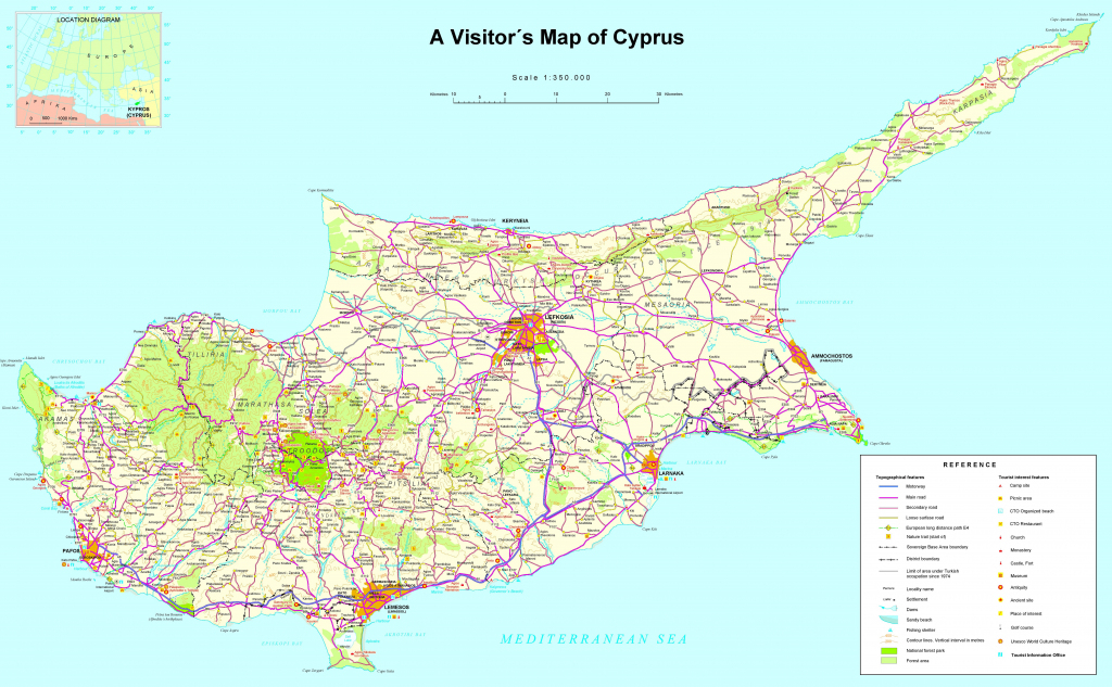 Large Detailed Tourist Map Of Cyprus intended for Printable Map Of Cyprus