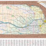 Large Detailed Tourist Map Of Nebraska With Cities And Towns Inside Printable Road Map Of Nebraska