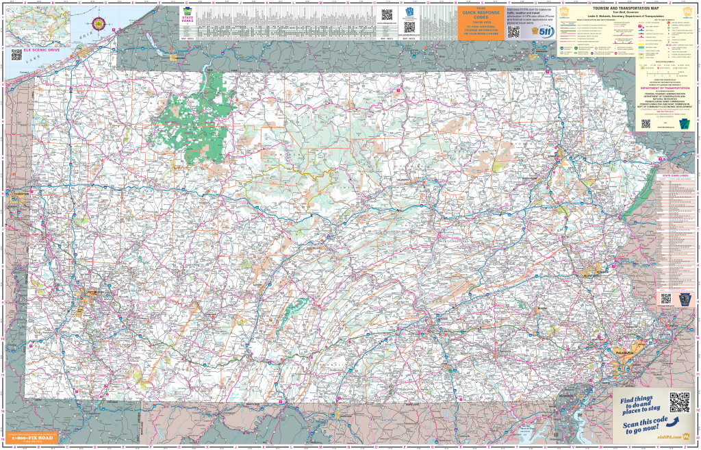 Large Detailed Tourist Map Of Pennsylvania With Cities And Towns with regard to Printable Map Of Pennsylvania