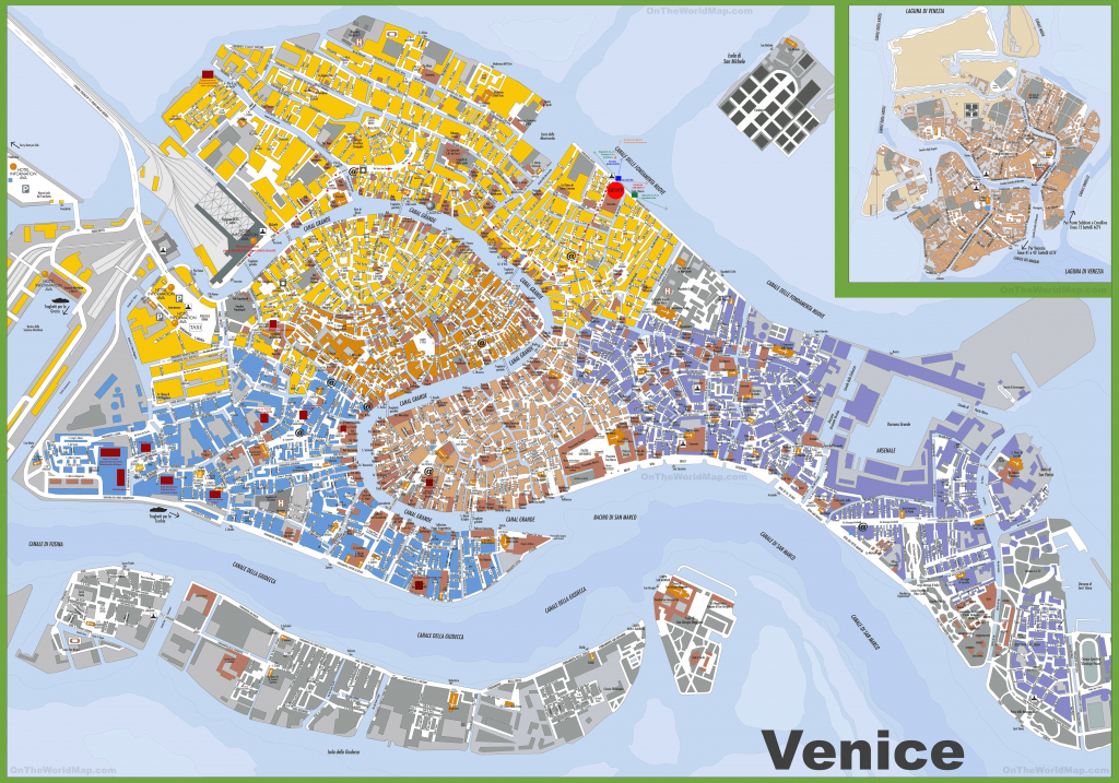 Large Detailed Tourist Map Of Venice pertaining to Street Map Of Venice Italy Printable