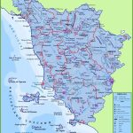 Large Detailed Travel Map Of Tuscany With Cities And Towns   Italy Inside Printable Map Of Italy With Cities And Towns