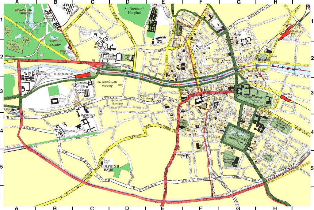 Large Dublin Maps For Free Download And Print | High-Resolution And pertaining to Dublin City Map Printable