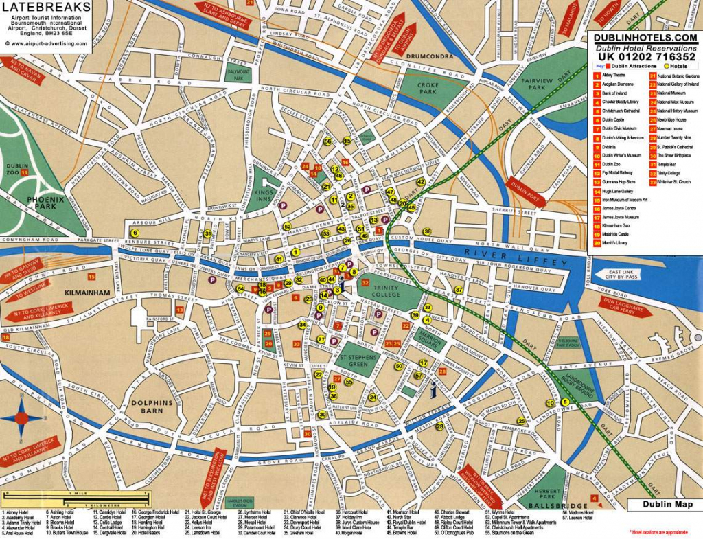 Large Dublin Maps For Free Download And Print | High-Resolution And regarding Printable Map Of Dublin
