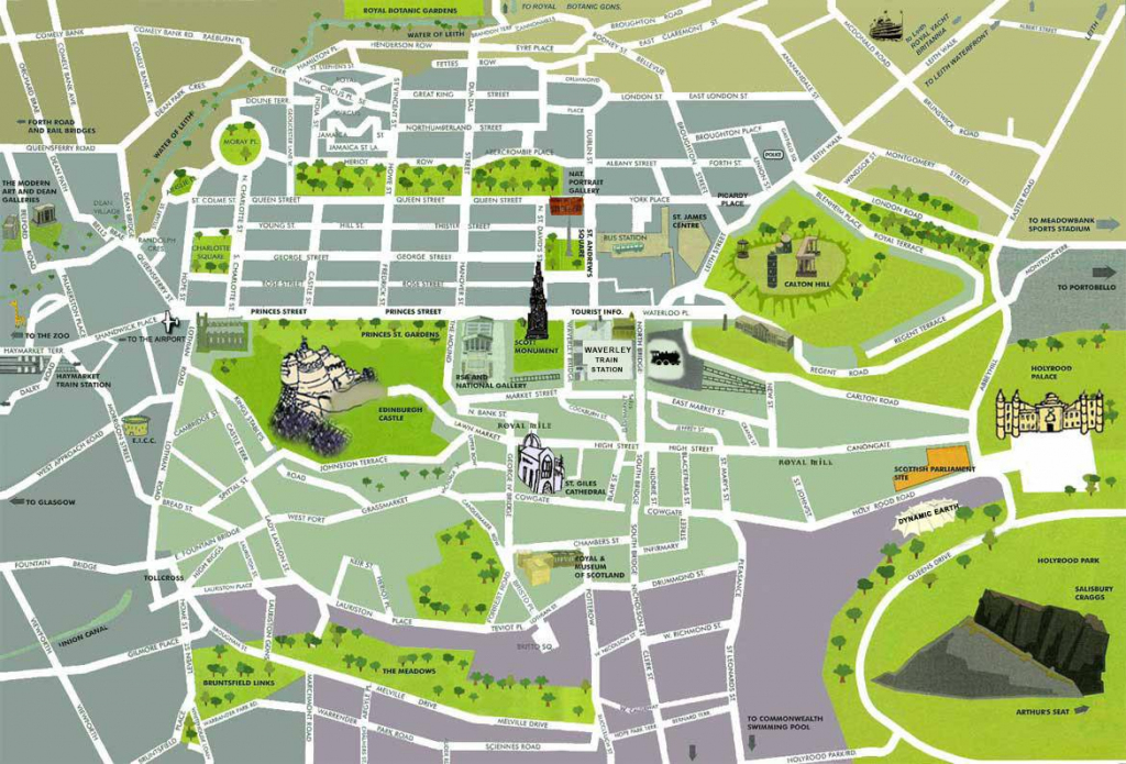 Large Edinburgh Maps For Free Download And Print | High-Resolution intended for Edinburgh City Map Printable