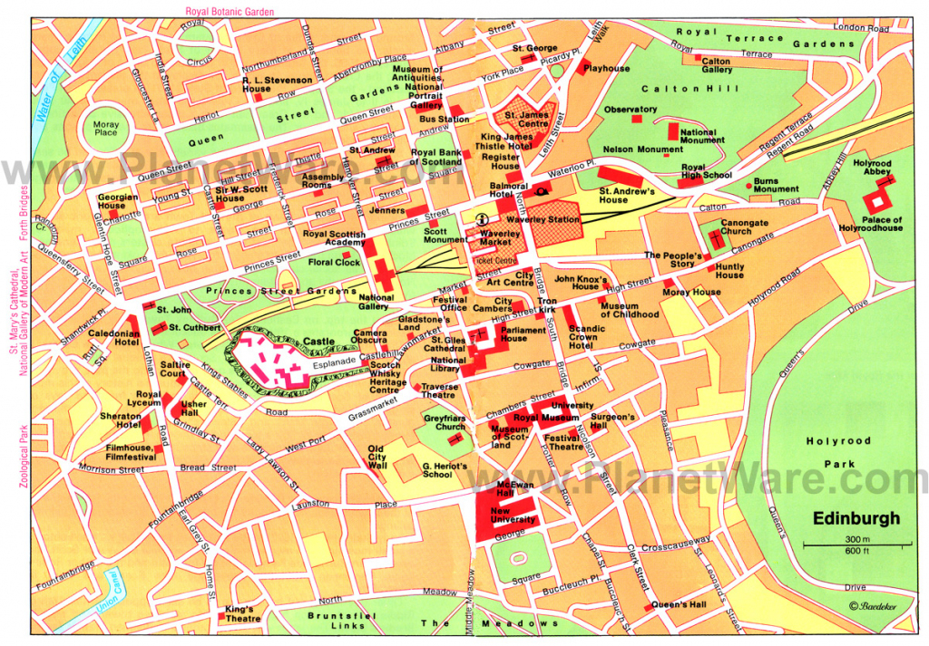 Large Edinburgh Maps For Free Download And Print | High-Resolution with Edinburgh City Map Printable