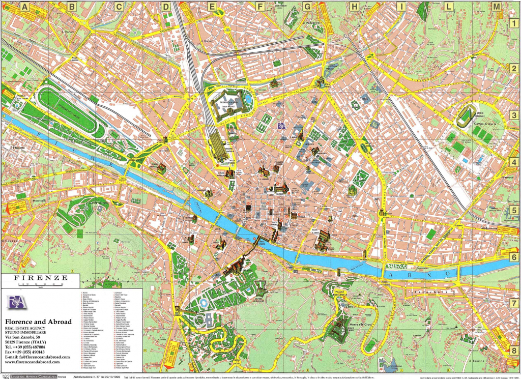 Large Florence Maps For Free Download And Print | High-Resolution in Printable Map Of Florence