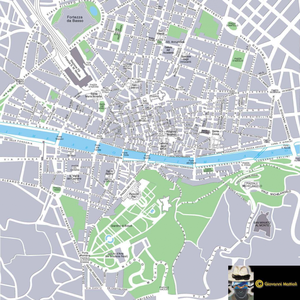 Large Florence Maps For Free Download And Print   High-Resolution inside Printable Map Of Florence Italy