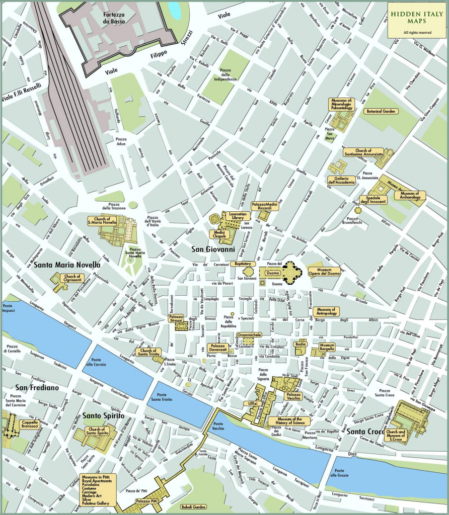 Large Florence Maps For Free Download And Print | High-Resolution inside Printable Walking Map Of Florence