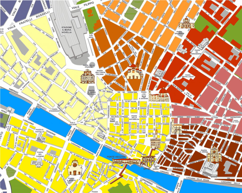 Large Florence Maps For Free Download And Print | High-Resolution with regard to Tourist Map Of Florence Italy Printable