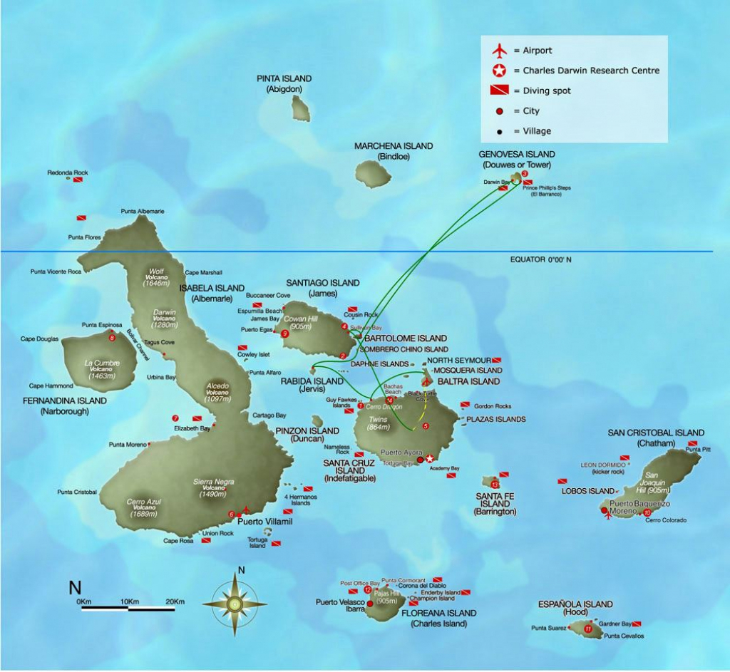 Large Galapagos Maps For Free Download And Print | High-Resolution intended for Printable Map Of Galapagos Islands