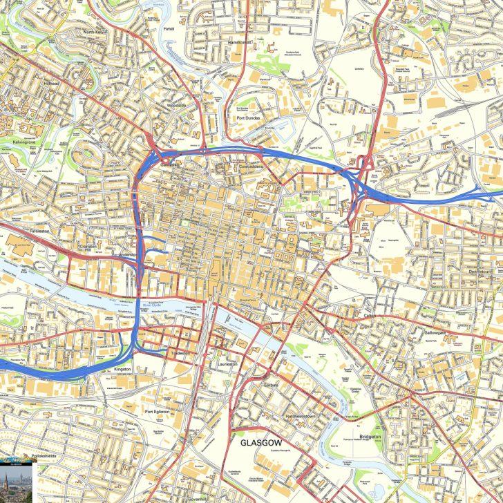 Glasgow City Map Printable