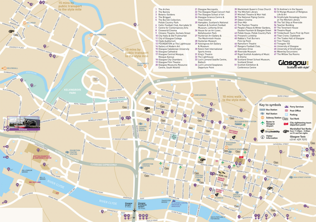 Large Glasgow Maps For Free Download And Print | High-Resolution And intended for Glasgow City Map Printable