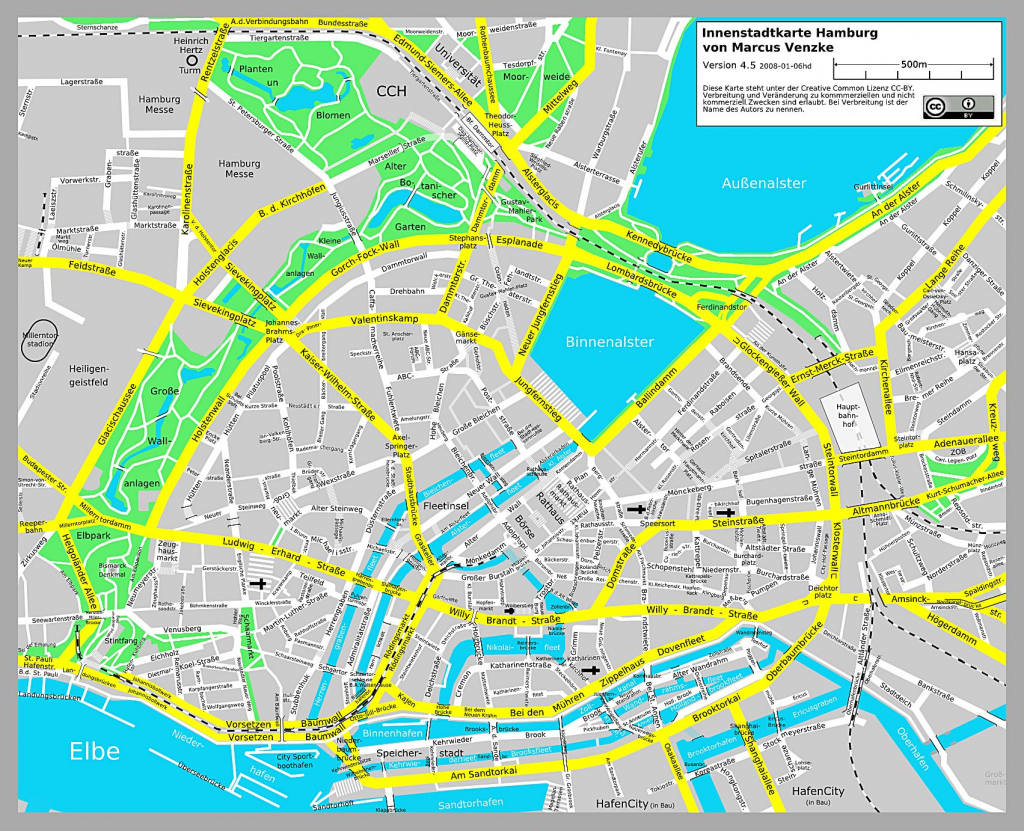 Large Hamburg Maps For Free Download And Print | High-Resolution And for Printable Map Of Hamburg