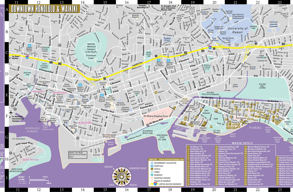 Large Honolulu Maps For Free Download And Print | High-Resolution regarding Printable Map Of Waikiki