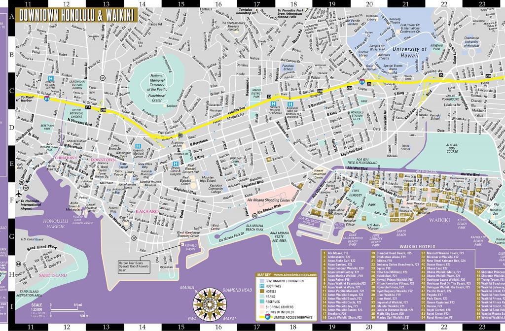 Large Honolulu Maps For Free Download And Print   High-Resolution regarding Printable Map Of Waikiki