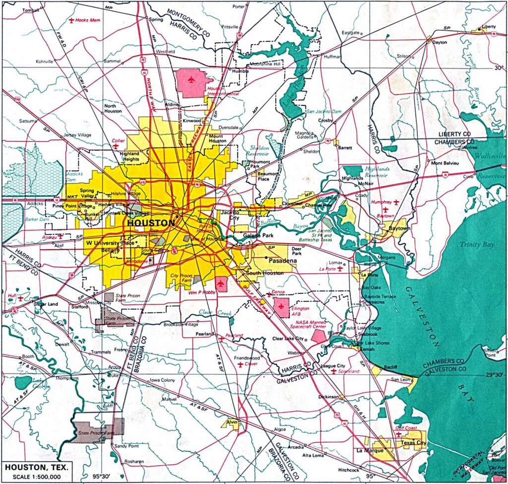 Large Houston Maps For Free Download And Print | High-Resolution And inside Printable Map Of Houston