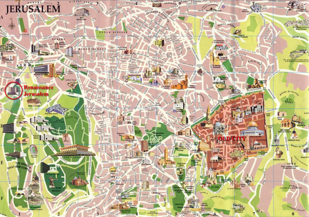 Large Jerusalem Maps For Free Download And Print | High-Resolution intended for Printable Aerial Maps