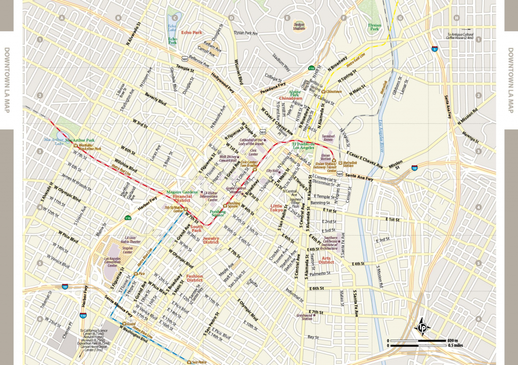 Large Los Angeles Maps For Free Download And Print | High-Resolution with Printable Map Of Los Angeles