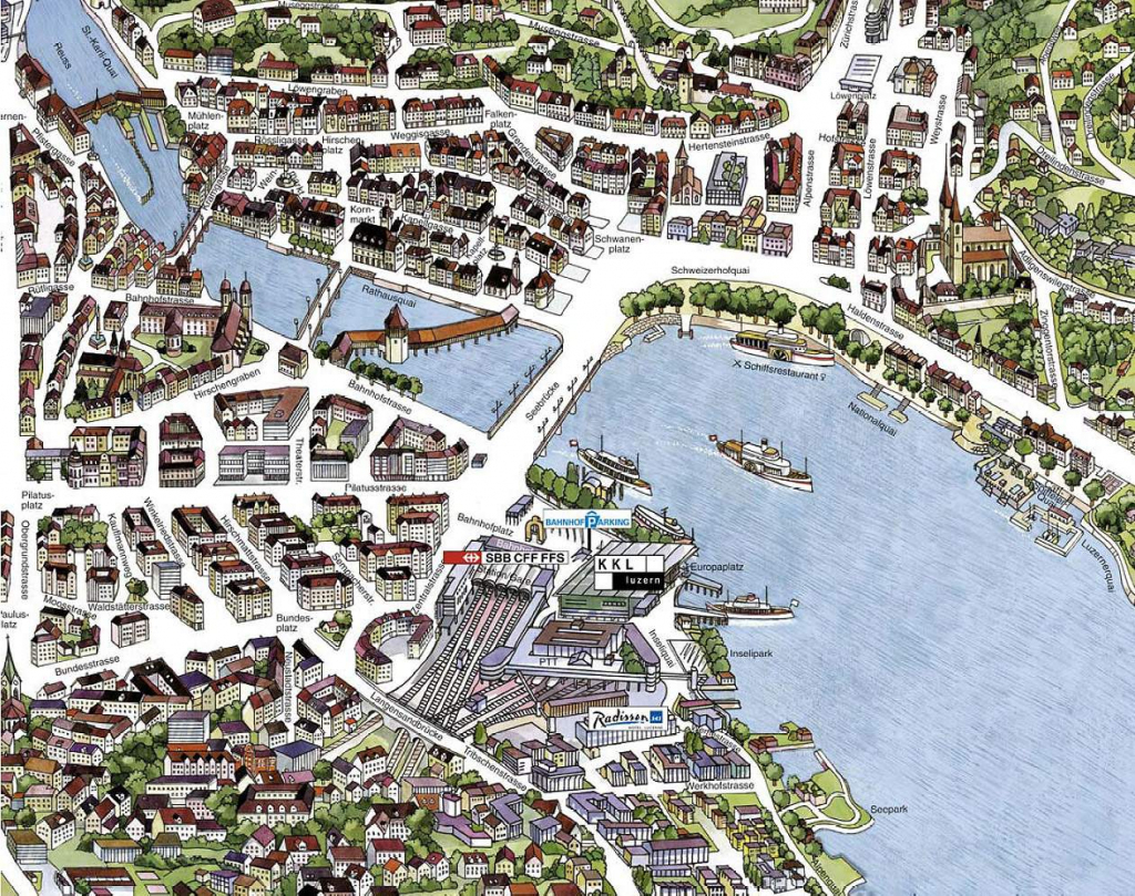 Large Luzern Maps For Free Download And Print | High-Resolution And within Printable Tourist Map Of Lucerne