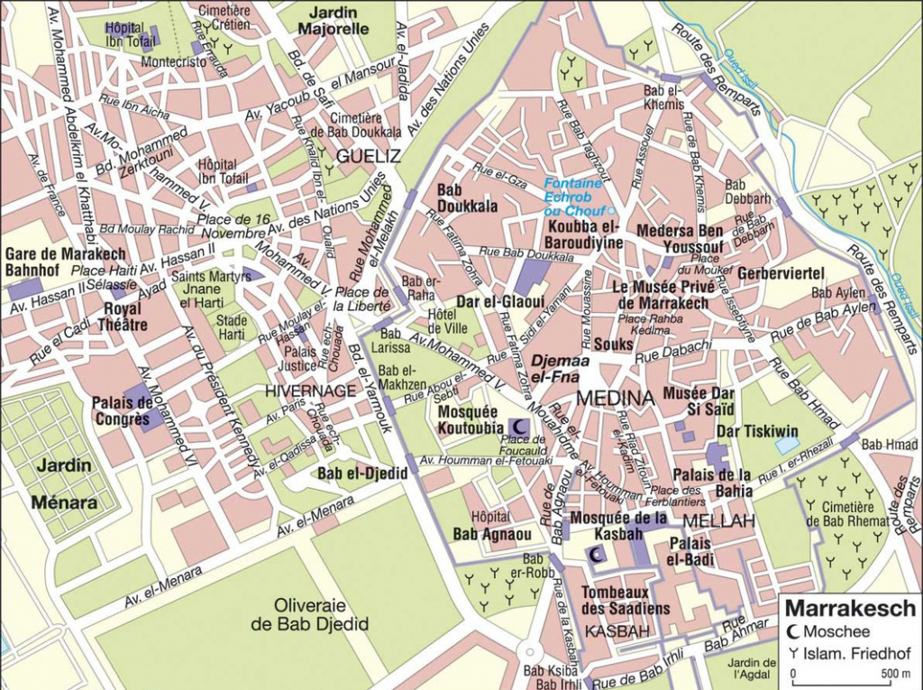 Large Marrakech Maps For Free Download And Print | High-Resolution pertaining to Marrakech Tourist Map Printable