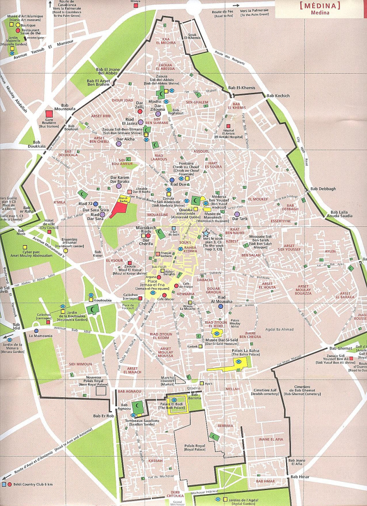 Large Marrakech Maps For Free Download And Print | High-Resolution with Marrakech Tourist Map Printable