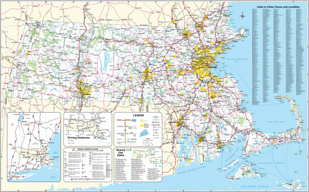 Large Massachusetts Maps For Free Download And Print | High within Printable Map Of New England