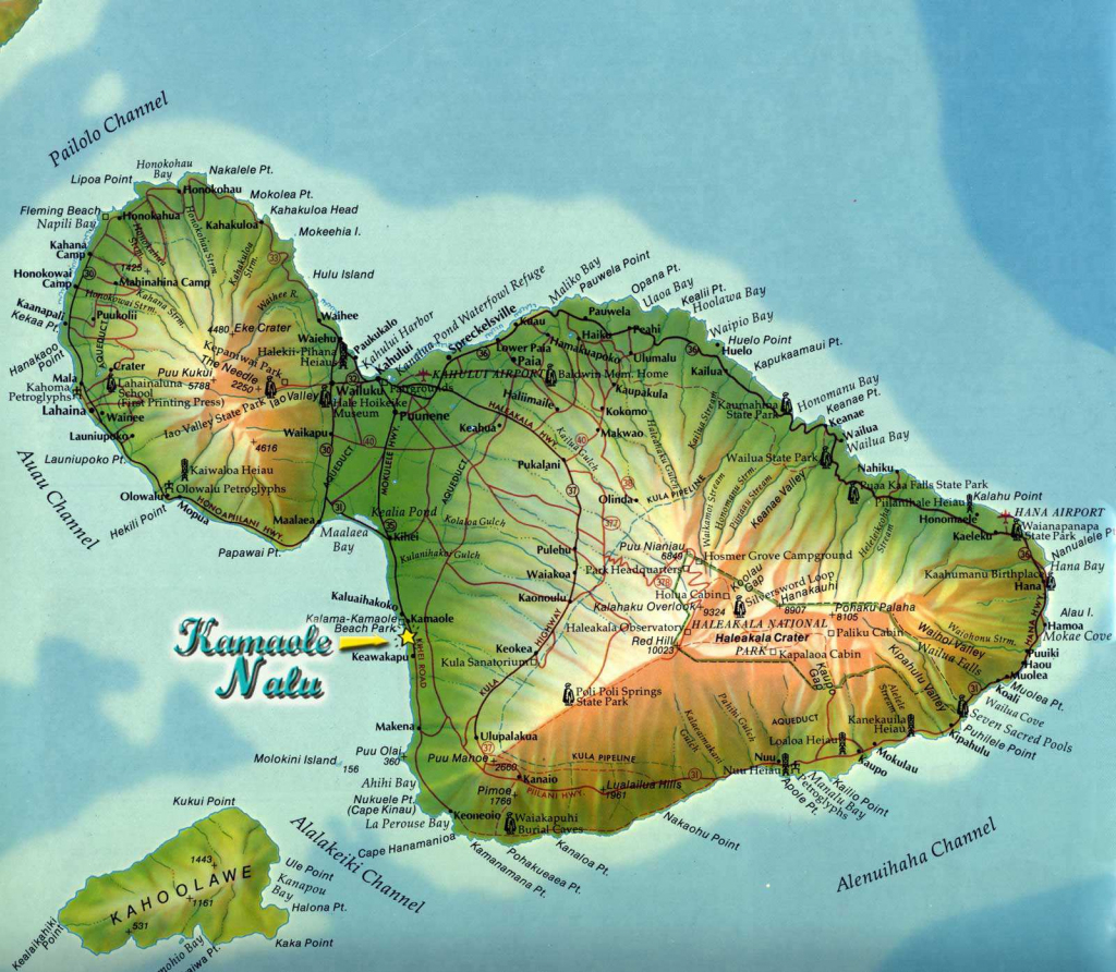 Large Maui Maps For Free Download And Print | High-Resolution And in Maui Road Map Printable