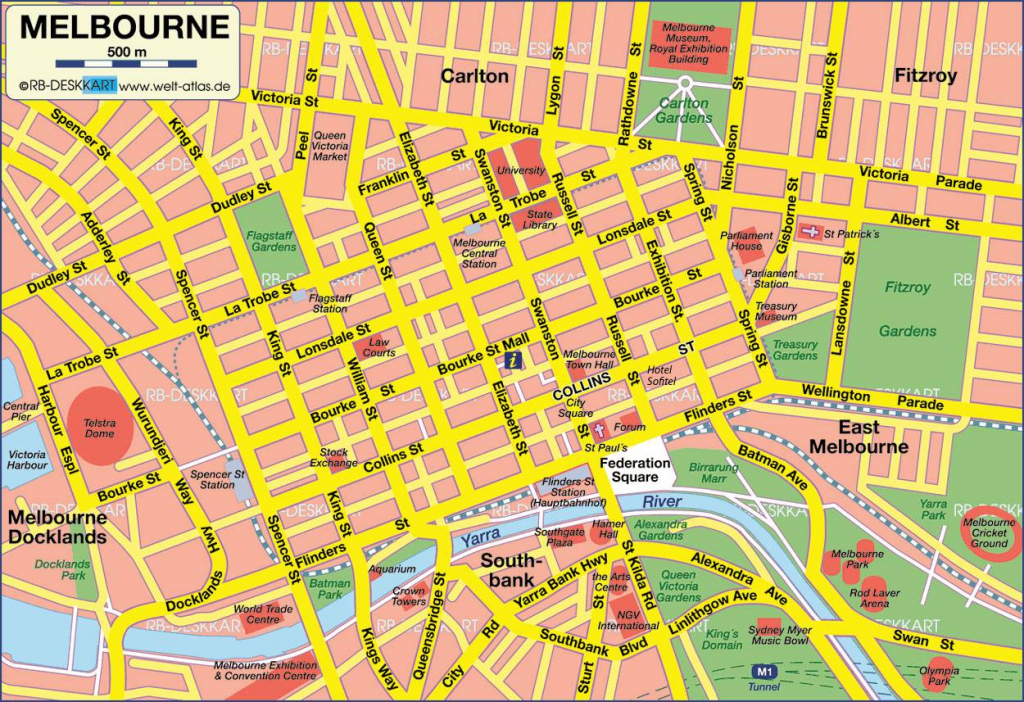 Large Melbourne Maps For Free Download And Print | High-Resolution in Melbourne Tourist Map Printable