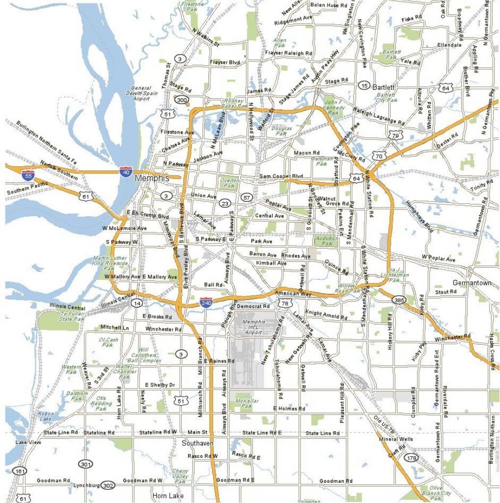 Large Memphis Maps For Free Download And Print | High-Resolution And with regard to Memphis City Map Printable