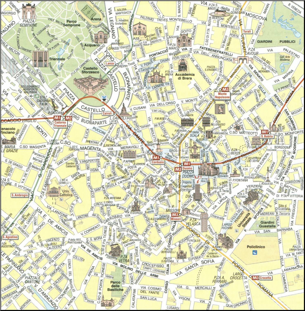 Large Milan Maps For Free Download And Print | High-Resolution And throughout Printable Map Of Milan