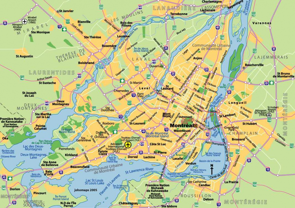 Large Montreal Maps For Free Download And Print   High-Resolution inside Printable Map Of Downtown Montreal