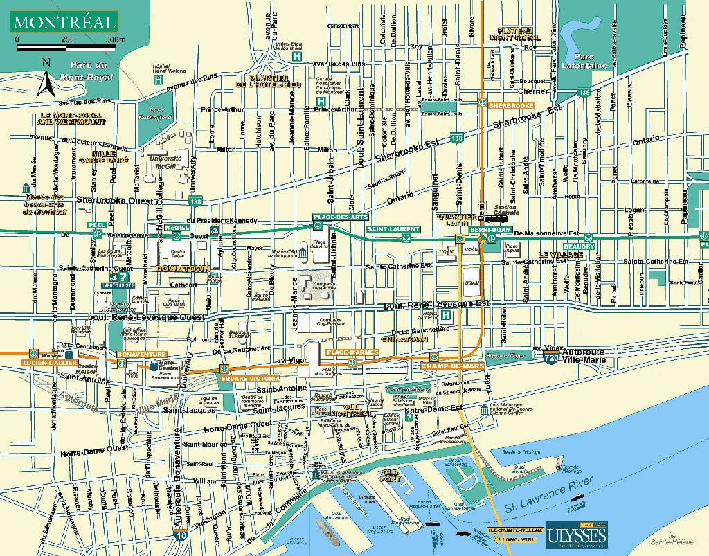 Large Montreal Maps For Free Download And Print | High-Resolution with Printable Map Of Montreal