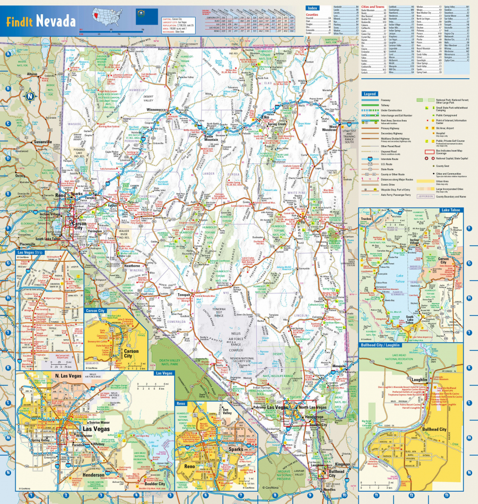 Large Nevada Maps For Free Download And Print | High-Resolution And regarding Printable Map Of Nevada