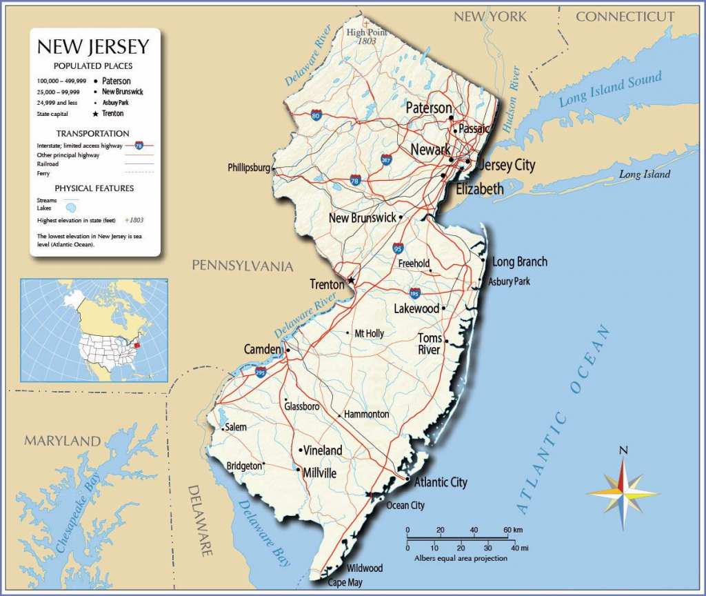 Large New Jersey State Maps For Free Download And Print | High with Printable Map Of New Jersey