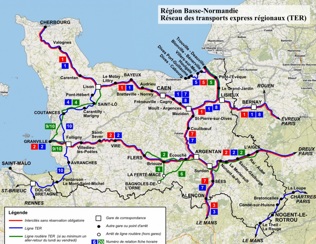 Large Normandy Maps For Free Download And Print | High-Resolution with regard to Printable Map Of France With Cities And Towns