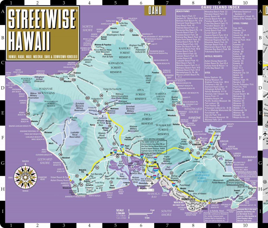 Large Oahu Island Maps For Free Download And Print   High-Resolution in Printable Map Of Waikiki