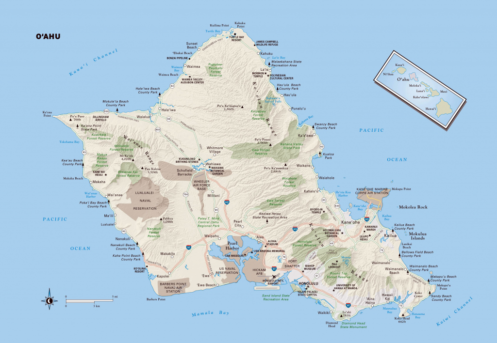 Large Oahu Island Maps For Free Download And Print | High-Resolution within Printable Map Of Waikiki