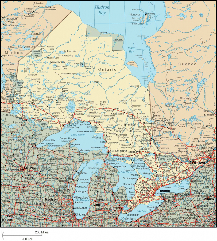 Large Ontario Town Maps For Free Download And Print | High pertaining to Printable Map Of Ontario