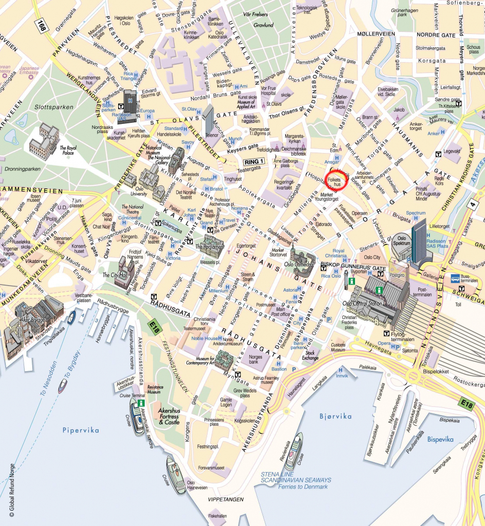 Large Oslo Maps For Free Download And Print | High-Resolution And throughout Oslo Map Printable