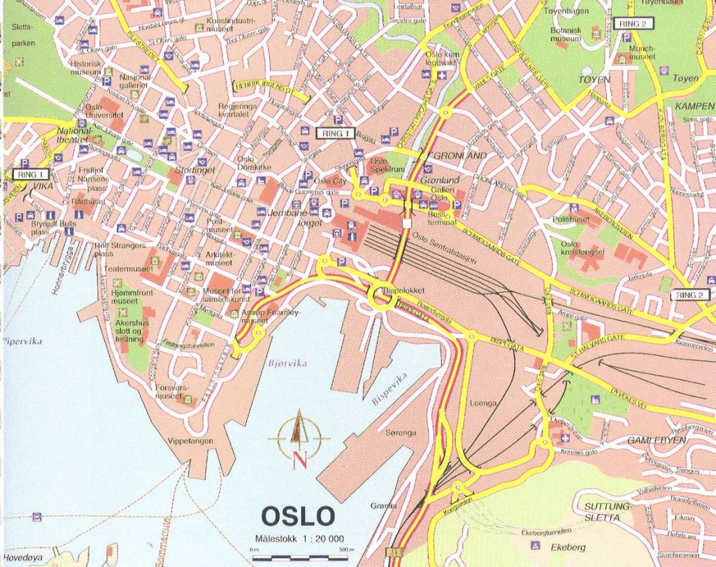 Large Oslo Maps For Free Download And Print | High-Resolution And within Oslo Map Printable