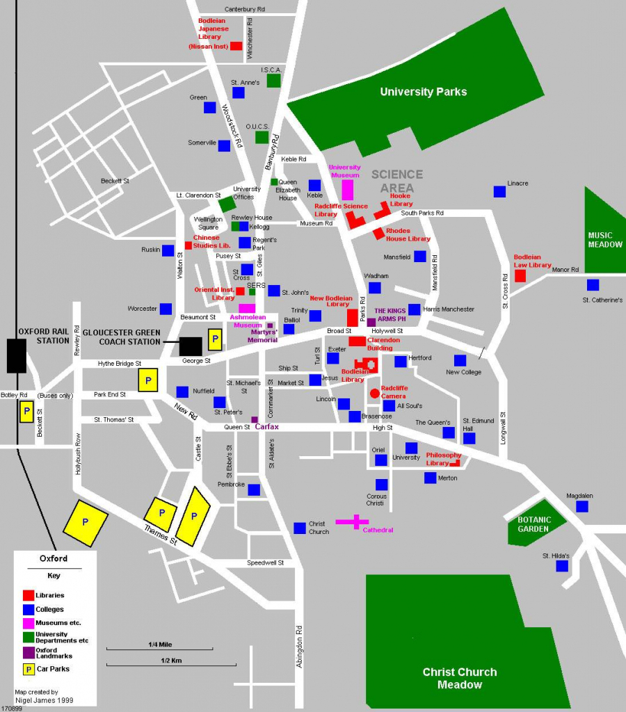 Large Oxford Maps For Free Download And Print | High-Resolution And within Oxford Tourist Map Printable