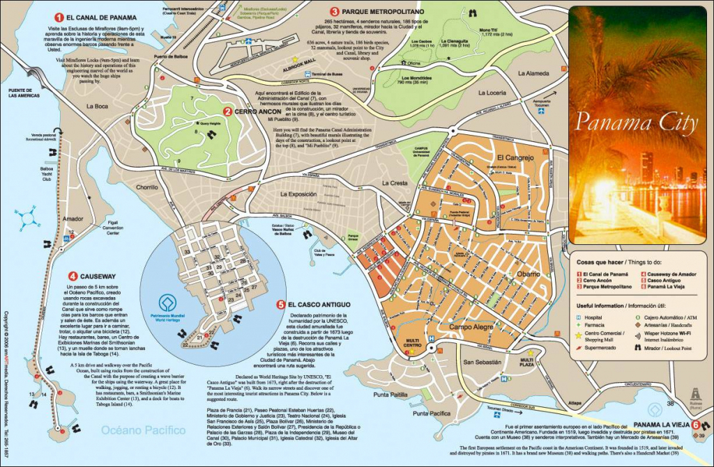 Large Panama City Maps For Free Download And Print | High-Resolution regarding Printable Map Of Panama