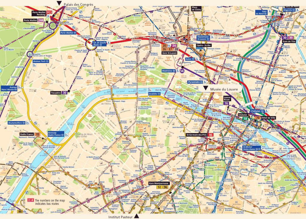 Large Paris Maps For Free Download And Print | High-Resolution And with Street Map Of Paris France Printable