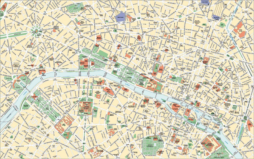 Large Paris Maps For Free Download And Print | High-Resolution And within Printable Map Of Paris
