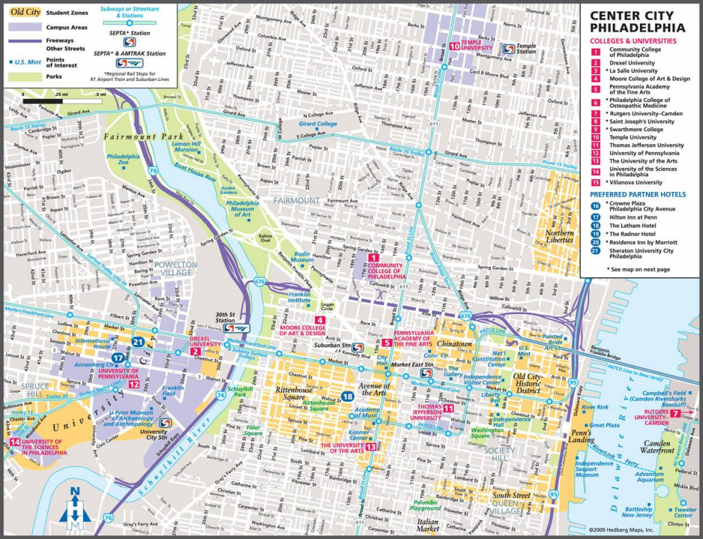 Large Philadelphia Maps For Free Download And Print | High throughout Philadelphia Street Map Printable