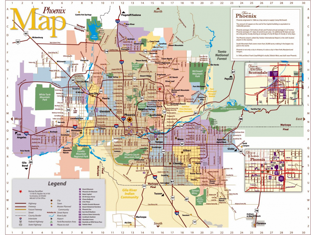 Large Phoenix Maps For Free Download And Print | High-Resolution And with regard to Phoenix Area Map Printable