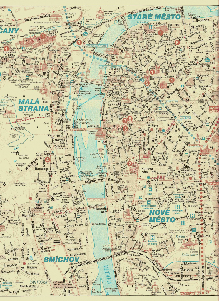 Large Prague Maps For Free Download And Print | High-Resolution And inside Prague City Map Printable