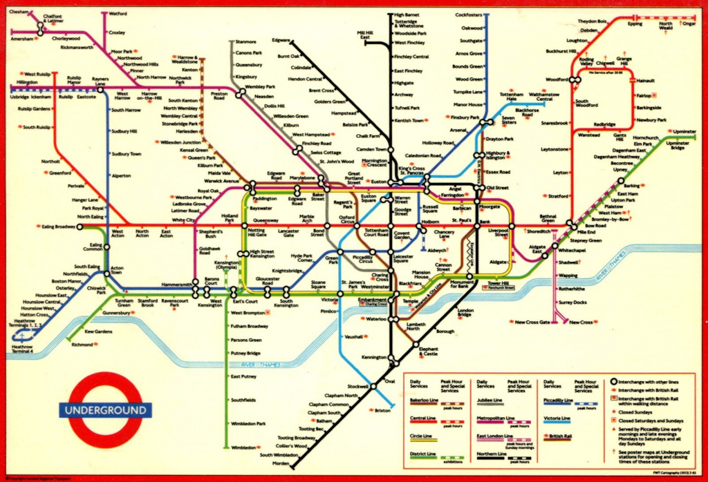 Large Print Tube Map Pleasing London Underground Printable With And throughout Printable Map Of The London Underground